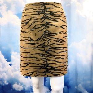 Animal Print Faux Fur Skirt Beautiful Tiger Stripe